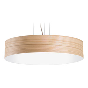 Veneli Slim Pendant Light, Natural Ash Veneer, Large