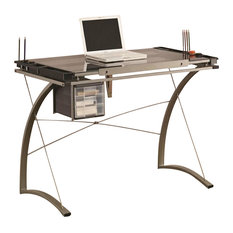 Coaster Melo 3 Drawer Drafting Table Desk in Champagne