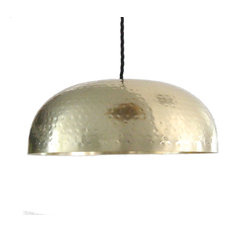 Most Popular Brass Dome Pendant Lights For Houzz - Kitchen pendant lighting brass