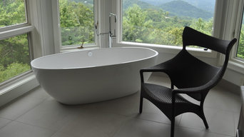 freestanding tub with a view