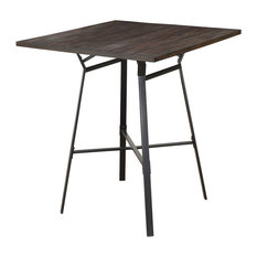 Acme Dora 5 Piece Pack Bar Set, Weathered Dark Oak and Black