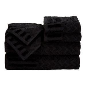 6-Piece Cotton Deluxe Plush Bath Towel Set Lavish Home