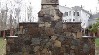 Stone Outdoor FIre Place in Woodbridge Va