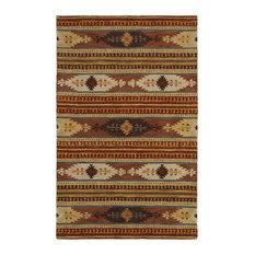 Southwest Multi Colored Woolen Area Rug, 8'x10'
