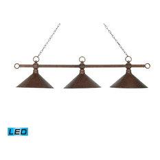 ELK Group International   Elk Lighting Designer Classic 3 Light LED Billiard,  Antique Copper