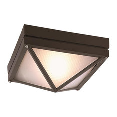 1 Light Flush-Mount, Rust