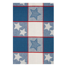 """Independence Stripe Cotton Tablecloth, 60""""x102"""""""