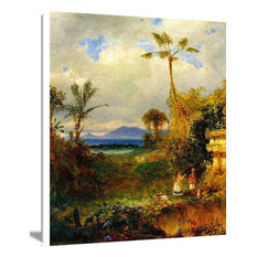 """""""Two Women In A Tropical Landscape"""" Art, 18""""x24"""""""