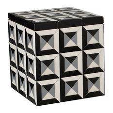 Deco Border Square Box, Large