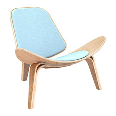 Natural Shell Chair, Nordic Blue