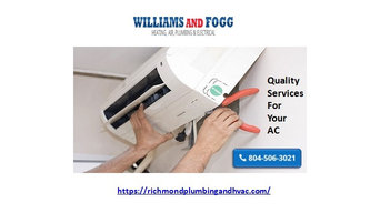 Plumbing, Cooling and Heating | Williams & Fogg Mechanical Services