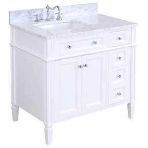 Hailey Bath Vanity, Base: White, 36""