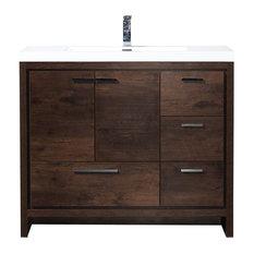 ConceptBaths - CBI Enna 42 Inch Rosewood Modern Bathroom Vanity TN-LY1065-1-
