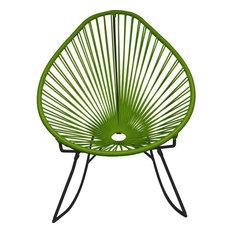 Innit Designs Junior Acapulco Rocker Chair, Black Base, Cactus
