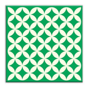 Rikki Knight Ghost Green Bubbles Design Ceramic Art Tile 8 x 8