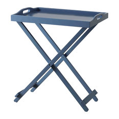 Convenience Concepts Designs2Go Folding Tray Table in Blue