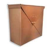NACH Rockford Classic Style Wall Mounted Mailbox, Copper