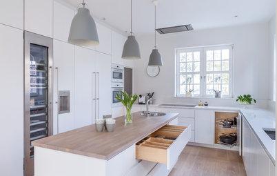 Eine Küche mit klaren Linien – und Stauraum ohne Ende
