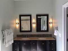 Bathroom Wall Sconces Height height of bathroom wall sconces