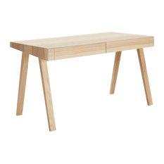 4.9 European Ash Work Table, 2 Drawers