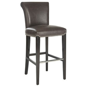 Seth Bar Stool in Antique Brown Finish