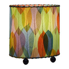 Eangee Home Designs Guyabano Leaf Mini Oval Multicolor Table Lamp