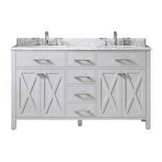 Xena Double Vanity, Dove Gray, 60""