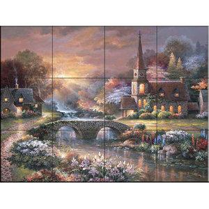Tile Mural, JL - Peaceful Reflections, 43.2x32.4 cm