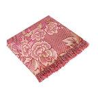 """Peony in Mythology - Crimson Jacquard Weave Blanket / Area Rug (59.1""""-86.7"""")"""
