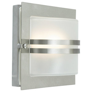 Bern Wall Lamp, Stainless Steel Clear
