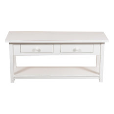 Country Wooden TV Stand, White