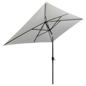 vidaXL Parasol Rectangular, Sand White, 200x300 cm
