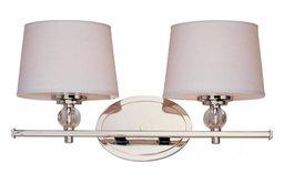 Two Light Polished Nickel Vanity