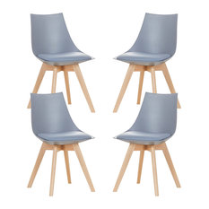 Lanzo Chair, Grey, Set of 4