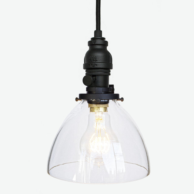 Hand blown glass industrial rustic pipe pendant light matte black hand blown glass industrial rustic pipe pendant light matte black mozeypictures Images