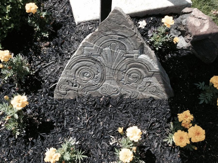 Landscape stone: Art in the garden: stone focal point