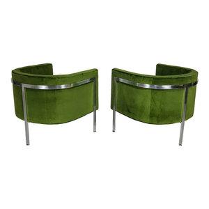 Velvet Lounge Chairs  Set of 2  EcoFirstArt