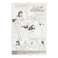 "Samm ""Jughead"" Schwartz, Jughead ""Strings Attached"" #197 pg 1, Ink Drawing"