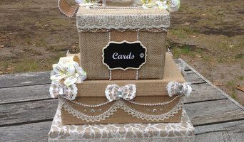 Rustic Burlap and Lace Victorian Wedding Card Box Centerpiece