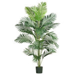 Nearly Natural - 7' Paradise Palm - Want to add a creative touch to your home or office without spending a fortune? This grand style Paradise palm is sure to do the trick. Standing 7 feet tall, this stately beauty adds life to any decor. Twenty-one natural looking fronds embellish this gorgeous tree from head to toe. Each individual frond is carefully crafted with a lush mix of wispy feathery shaped leaves. Guaranteed to provide years of hassle free beauty.