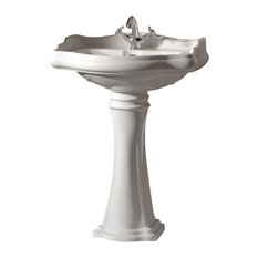 WS Bath Collections Retro Pedestal Sink with One Faucet Hole
