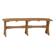 """Luxcraft Recycled Plastic Table Bench, 52"""", Antique Mahogany"""