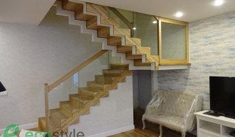 """Лестница в стиле """"Лофт"""" на металлическом каркасе"""