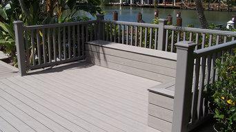 Composite decking for dock storage