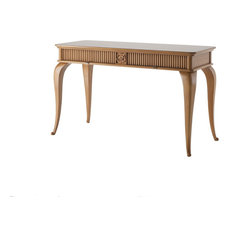Dressing Table With 2 Drawers, Champagne