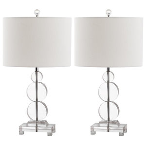 Harper Crystal Table Lamps, Set of 2