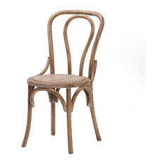 No. 18 French Cafe Style Side Chair, Distressed Ash