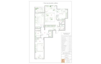 Поиск планировки: 3 варианта + финал квартиры для музыканта