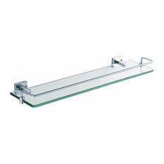 Kraus KEA-14445 Aura Glass Shelf with Brass Railing