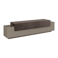 Asia 1-Drawer TV Unit, Sand and Dark Oak